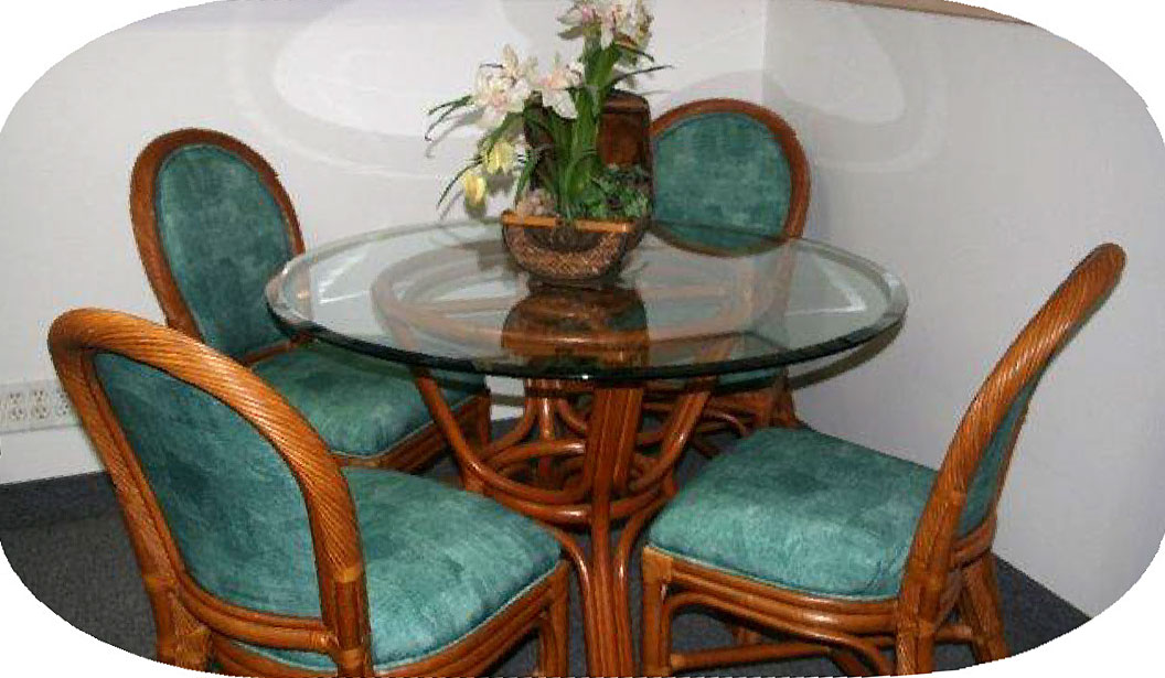 Tropical Dining Room Condo Package. New Kauai Furniture Condo Packages from Island Collections