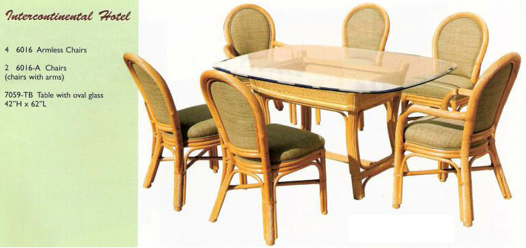 New Rattan Dining Rooms from Island Collections