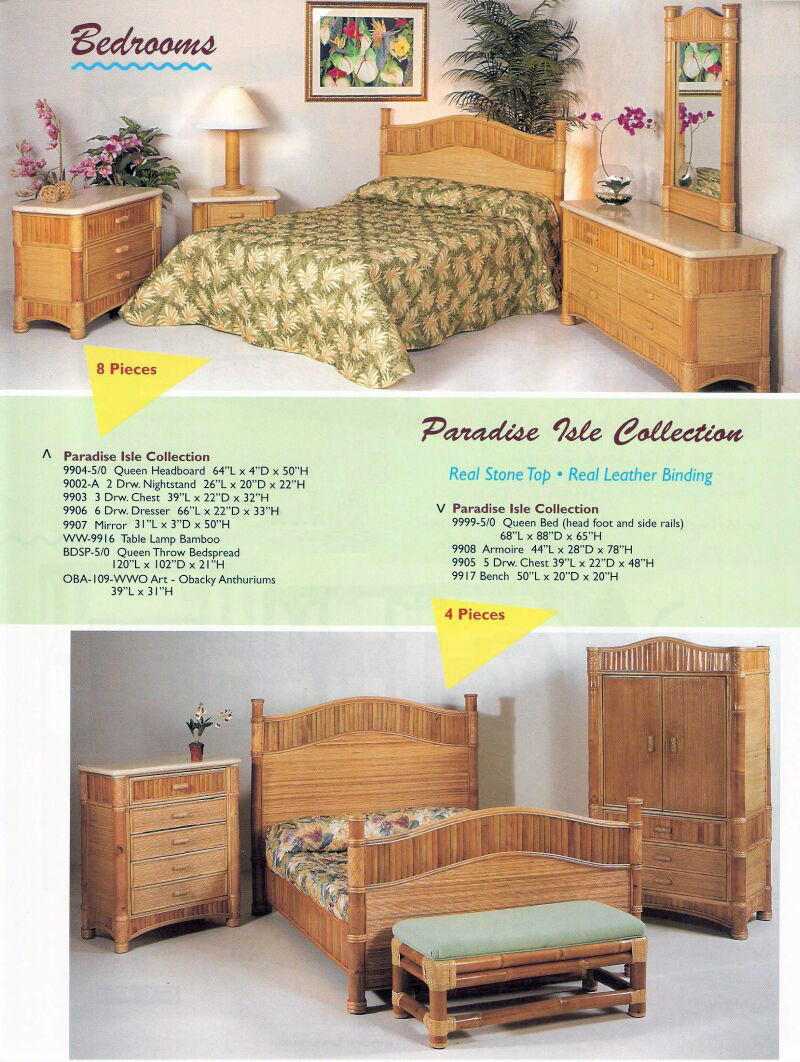 bedroom dresser tropical bamboo affordable size and headboard full nightstand sets set furniture modern