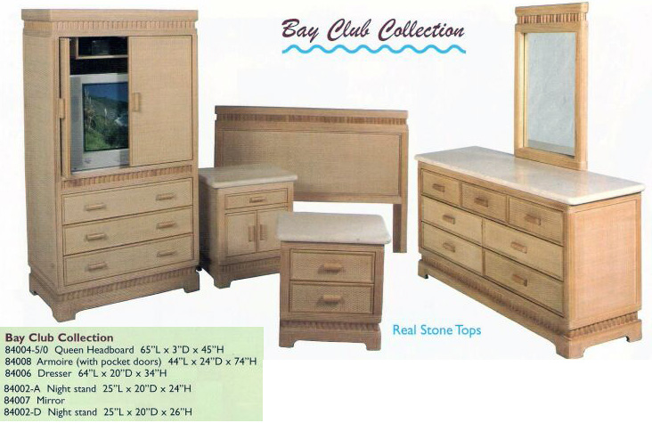 Island collections kauai bedroom furniture new rattan for Bedroom furniture hawaii