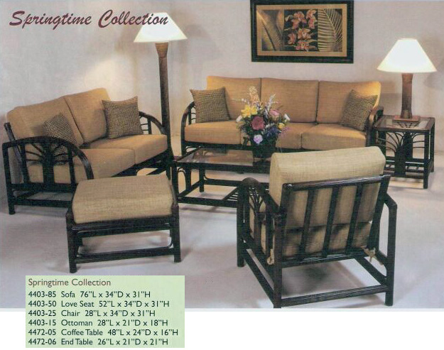 & Island Collections Living Room Furniture Kauai Rattan Sets