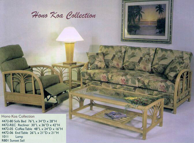 Rattan Hono Koa Collection Living Room From Island Collections