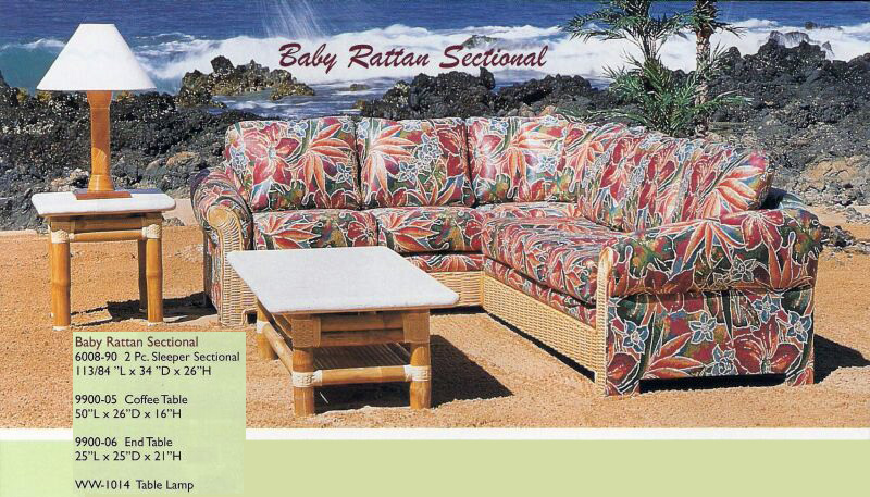 Baby Rattan Sectional