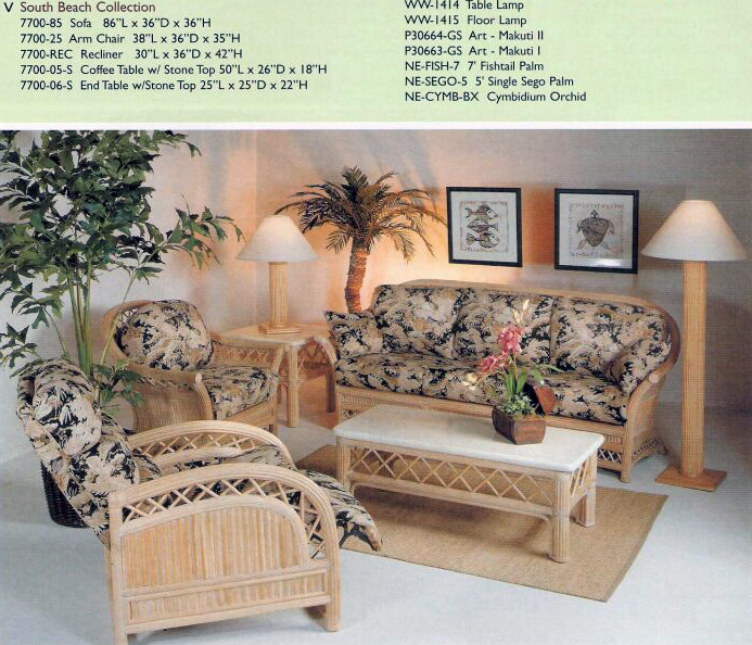 Island Collections Living Room Furniture Kauai Rattan Sets