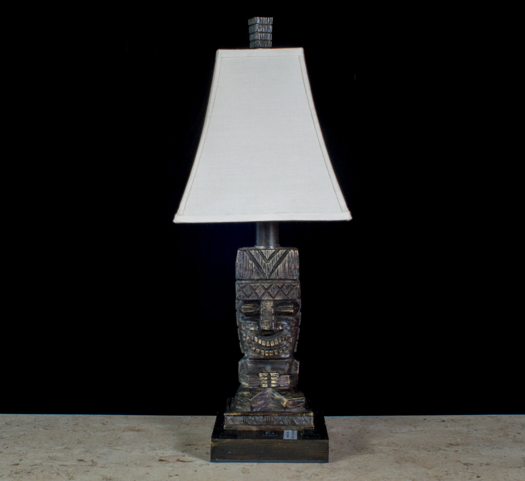 Tiki god lamp